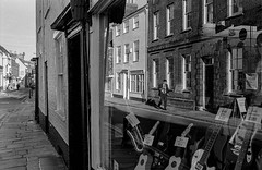 County Music Shop window (flasqueous) Tags: bnw blackandwhite film roll 400iso 35mm vintage friends house canterbury uk cosy intimate familiar personal candid candidphotography