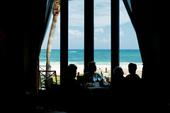 Lunch beach side (Cheryl3001) Tags: mexico iberostar paraiso grand beach lunch silhoutte fujifilm xt2