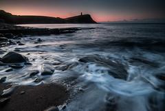 Kimmeridge (selvagedavid38) Tags: sunrise dawn coast dorset kimmeridge rocks tide waves sea england tower cliffs dark night purbeck