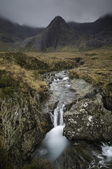 Durin ([CamCam]) Tags: yellow lsle skye scotland fairy pool pools mist cloud mountain mountains waterfall long exposure isle