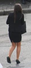 1198 (SadCire) Tags: woman female frau femme mujer girl mädchen fille chica teen thigh tights pantyhose stockings calves legs miniskirt minidress skirt dress heels street strabe rue calle candid sexy