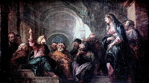 IMG_2439B Charles de La Fosse.  1636 1716. Paris.    Jésus parmi les docteurs. Jesus among the doctors. Rouen  Musée des Beaux Arts