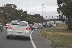 Green ramp signals at the Geelong Road onramp to the Princes Freeway (Marcus Wong from Geelong) Tags: princesfreeway princeshighway geelong melbourne road freeway motorway highway