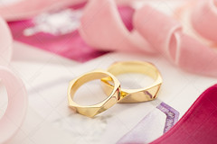 Golden wedding rings on pastel background with pink ribbons (Aleksa Torri) Tags: wedding rings background silk white engagement gold ribbon golden love ceremony couple card decoration pair romantic romance marriage invitation jewelry bride anniversary band banner bridal commitment copyspace designer elegance elegant event fancy festive groom happy invite jewel jewelery luxury marry modern nuptials platinum together two wed pastel pink envelope red