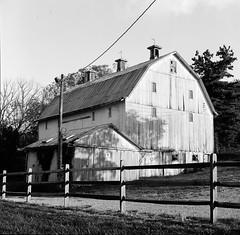 Barn - Lancaster, Ohio (ryanungeronline) Tags: 120film bronicasqa ilfordfp4plus lancasterohio bw bwnegative filmphotography