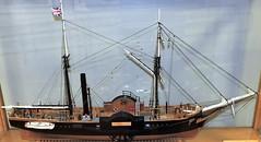 """Model of the paddle steamer """"Cape Breton"""" (Will S.) Tags: mypics model paddlesteamer capebreton sydney novascotia canada ship"""