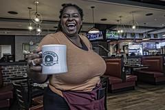 Street Portrait, Goldberg's Deli, Altanta (Steve Mitchell Gallery) Tags: people portrait portraits waitress waitresses restaurant restaurants diner diners deli food eat coffee coffeemugs streetportrait street