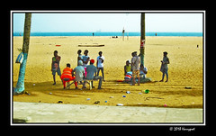 crowd at beach (harrypwt) Tags: harrypwt africa afrika westafrica canons95 s95 borders framed city lome togo interesting people trees coastal ship water sea sand