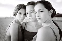 Jade, Jacqui and Steph (instagram: atya_35mm) Tags: leica kodak tmax100 girl portrait group beach beauty blackandwhite youth teen shootfilm analogue 35mm