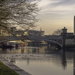 The River Ouse in York on a winter's afternoon. thumbnail