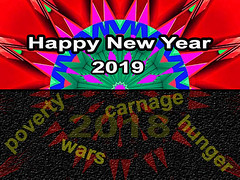 Happy New Year 2019 (Kombizz) Tags: kombizz kaleidoscope experimentalart experimentalphotoart photoart epa samsung samsunggalaxy fx abstract pattern art artwork geometricart happynewyear2019 happynewyear 2019