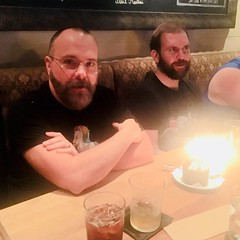 IMG_E7604 (danimaniacs) Tags: cake candles man guy beard scruff