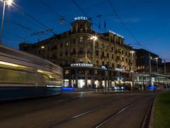 Hotel Schweizerhof Zurich (gtkenji) Tags: hotelschweizerhofzurich zurichtransportnetwork zvv tram trams bahnhofplatz zurich switzerland publictransport canong16