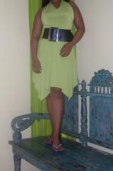 SDC12949 (ikat.bali) Tags: belt leather leder gürtel breitegürtel fashion fetish frau fotomodell sexy amateur lady girl dress kleid