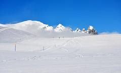 Ski Laax, Switzerland (jamesalexandermichie) Tags: ski laax switzerland snow skiing skier winter landscape blue white