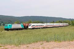 IGE 185 576 am 23.05.2018 mit einem Kesselzug in Haunetal-Neukirchen (Eisenbahner101) Tags: