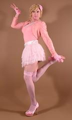 119H4L (klarissakrass) Tags: pinkdress pinkfashion heels highheels pumps stockings crossdress transgender gurl