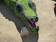 Sculpture on the beach . (Franc Le Blanc .) Tags: marbella spain beach sand sculpture krokodil