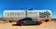 Upgraded Car (Spebak) Tags: spebak canon canondslr canon70d desertcenter desert california blue sky chuchwallavalleyraceway porsche porsche911 911 gbody
