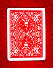 Red Rider Back (mtuswan) Tags: playingcard card bicycle usplayingcardcompany game red riderback cherub cupid