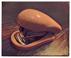 Stylized stapler. #photography #photooftheday #photoadaychallenge #project365 #iphone6se #calgary #yyc #stapler #artistic