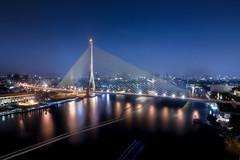 rama8bridg (กิตติคุณปลื้มวีร) Tags: thailand bangkok bridge rama8 cityscpe nightscape