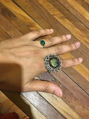 new ring from Aranya (olive witch) Tags: 2018 abeerhoque bangladesh bd day dec18 december dhaka hand indoors me ring