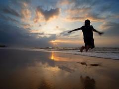 IMG_6387 ~ jump2 (alongbc) Tags: jump boy silhouette sunrise cloud sea sky beach lanjutbeach kualarompin rompin pahang malaysia travel place trip canon 700d canonlens 10mm18mm wideangle happyplanet asiafavorites