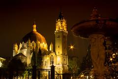 Parque del Retiro. Madrid (cristianff09) Tags: parque nocturna largaexposicion long exposure fuente agua edificio retiro noche madrid spain españa iglesia