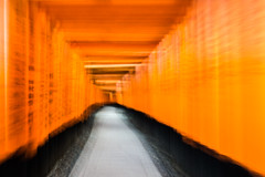 Speed of blur (shutterBRI) Tags: kyoto torii gates red travel japan japanese 2018 sony