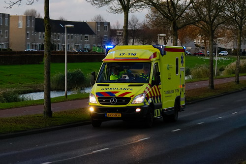 884ad4598a Dutch Ambulance underway to an emergency call in Spijkenisse