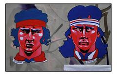 STREET ART PASTE UP by ZELDA BOMBA (StockCarPete) Tags: streetart londonstreetart urbanart borg tennis sport johnmcenroe bjornborg pasteups londonpasteups