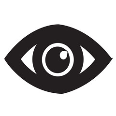 Eye Icon (www.icon0.com) Tags: eye icon vision vector view look see sight symbol concept watch graphic spectrum human abstract black web pictogram optical bright searching business sign male light eyesight health white shape element simple medicine illustration design color clip anatomy background silhouette eyelashes isolated iris outline curve circle idea eyeball emblem lens science
