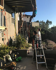 004 Nancy Begins Her Traverse (saschmitz_earthlink_net) Tags: 2018 california southerncaliforniagrotto christmasparty losangelescounty baldwinhills windsorhills party climbing practice
