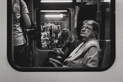 Subway Stories (Zesk MF) Tags: bw black white mono zesk cologne x100f fuji candid street passenger