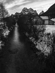 Snow river #500px (Filippo B.) Tags: 500px freddo montagna neve san candido sesto landscape valley hill scenic picturesque tree mountain range lifeisstreet bnwlegit bnwaddiction everythingbnw friendsinbnw black white blackandwhite olympus omd em1 1240 social 2018 brulè bz ferie mercatini sancandido slittino vacanze