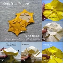 Tutorial New Year's Eve - part 6 (talina_78) Tags: origami star hexagon tutorial