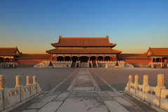 The Forbidden City (RomImage) Tags: china beijing forbiddencity architecture nobody 0people sunset warm cold winter bluesky roof asia asianroof chinese history old historical historicalplace emperor red temple bridge tradition traditional december city stairs magic peace quiet quietforbiddencity relax zen blue yellow palace