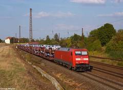 DB 152 059, Wiederitzsch (der_bahnfotograf) Tags: db deutsche bahn rot auto autozug leipzig wiederitzsch freie strecke