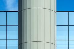 Facade with lines and curves (Jan van der Wolf) Tags: map191389v lines lijnen lijnenspel interplayoflines playoflines curves facade gevel gebouw architecture architectuur dissymmetry symmetry symmetric symmetrie building