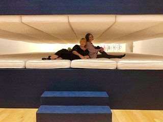 Patrice Samara and Liana Perez inside the super mattress by Paola Pivi at The Bass. Visit and have fun!!!