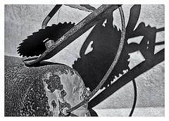 Pentax Auto 110 (1978) (Black and White Fine Art) Tags: pentaxauto1101978 pentax11050mmf28 pentaxmini pentax 110format formato110 smallformat formatopequeño sanjuan oldsanjuan viejosanjuan puerto rico bn bw shadows sombras ight luz