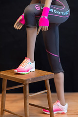 Fire Girl Women's Fitness Wear Set (edwicks_toybox) Tags: 16scale firegirl tbleague blonde brunette femaleactionfigure fitness hoodie jogbra phicen seamlessbody shorts sneakers tights zytoys