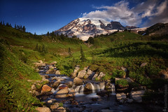 Mount Rainier National Park | Edith Creek (Nature1844 Photography) Tags: mountrainiernationalpark paradise edithcreek cascades national mountains montagna montagne mountainscape volcano volcanic snow snowcapped nightsky night nightscape nocturne nocturno darkness fullmoon moon stars starstudded sky clouds himmel cielo cloudscape skyscape ambience atmosphere mood magical light lightandshadow lumiere landscape landschaft landschaftbilder paysage paisaje paisagem outdoors landforms nature natur naturaleza naturephotography scenery scenic vista shadows painterly beauty blue green trail hiking longexposure creek stream brook water wasser rocks outside park glaciers ☯laquintaessenza☯ greatphotographers