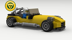 Caterham (revised) (with driver) (LegoGuyTom) Tags: