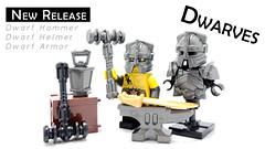 Dwarves are here! (BrickWarriors - Ryan) Tags: brickwarriors custom lego minifigure weapons helmets armor dwarf dwarves hammer fantasy castle medieval