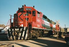 MEX63 GP38-2M 8242 8244 (stevenjeremy25) Tags: ferromex fxe fnm mexico train railway railroad pacifico chp chihuahua creel gp382m 8242 8244