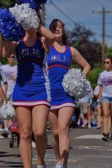 Cheerleaders (Scott 97006) Tags: parade cheers cheerleader pompom uniform
