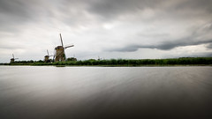 Kinderdik wind (gilles.chaulet) Tags: 2017 belgique hollande paysbas juillet vacances voyage netherlands mill landscape water wind long exposure nikon d3s
