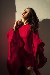 Excessive Me (aminefassi) Tags: portrait people beauty fashion mode red reddress windowlight sony a7riii 85mmf18 color